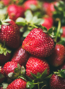 Fresh strawberry texture  wallpaper and background  selective focus