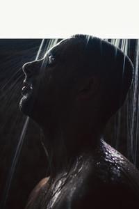 Waterfall in his skin