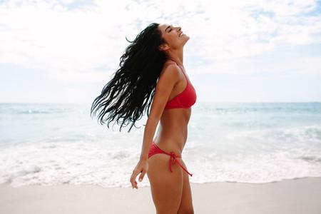 Woman enjoying vacation on the beach
