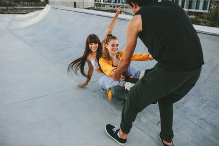 The skate board train