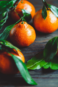 Tasty clementines on a table  Macro food photography