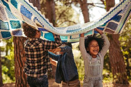 Group of children enjoying together in park