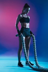 Woman doing cross training