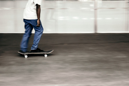 Man riding a skateboard