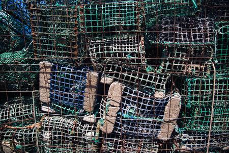 Fish net background texture