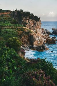 Mediterranean landscape with sea
