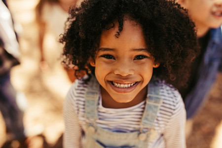 Smiling african girl