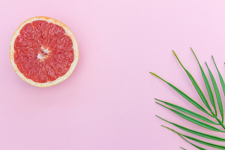 Pink grapefruit minimal food