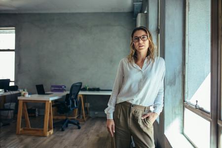 Female entrepreneur in her office