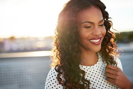 Portrait of a smiling black woman