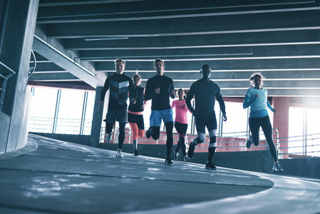 Group of athletes running