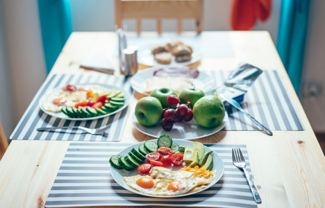 Fresh breakfast on the table
