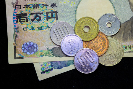Japanese yen coin money