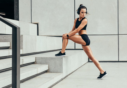 Fit woman doing morning workout