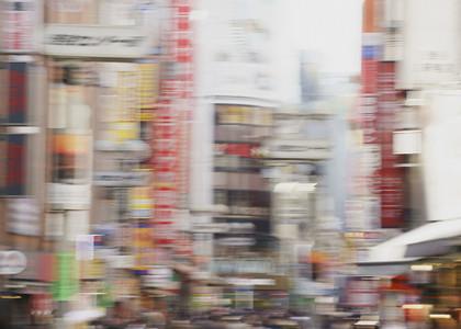Defocused modern city streetn 01