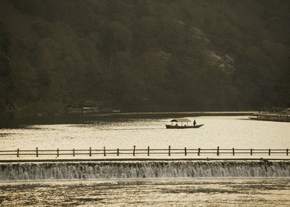 Boat on tranquil rive 01