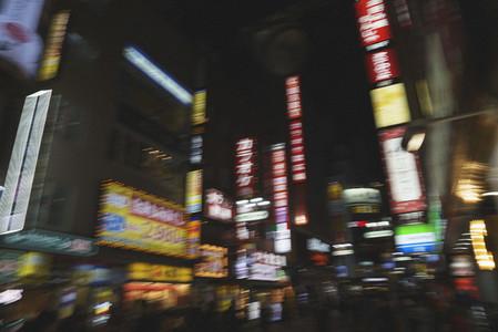 Modern urban city street at night 01