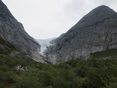 Scenic view Jostedalsbreen Glacier 01
