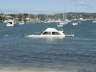 Sinking boat in sunny Montego Bay 01