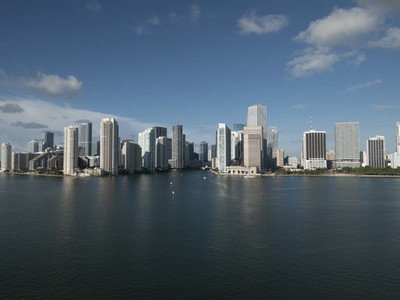 Sunny cityscape view of Miami 01