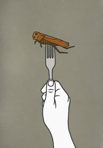 Fork piercing cockroach 01