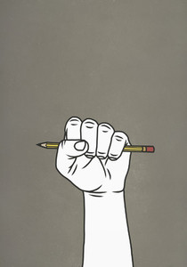 Fist gripping pencil 01