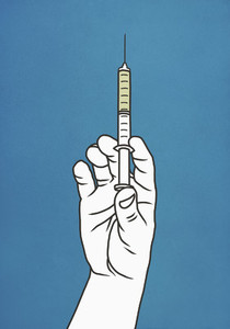 Hand with syringe 01