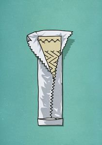 Open stick of gum 01