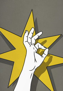 Hand gesturing OK 01