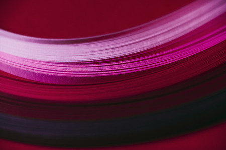 Abstract pink and red paper wave pattern 01