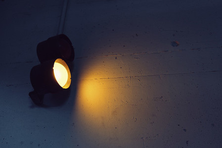 Yellow subway light in tunnel 01