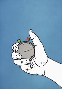 Man holding stopwatch 01