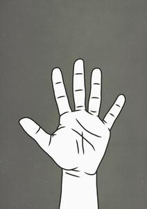 Hand raised 01