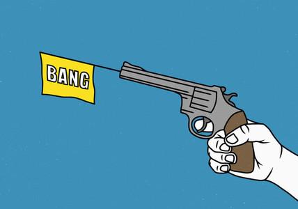 Man holding a toy gun 01