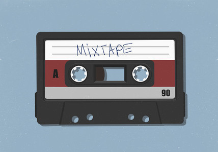 Retro mix tape cassette tape 01