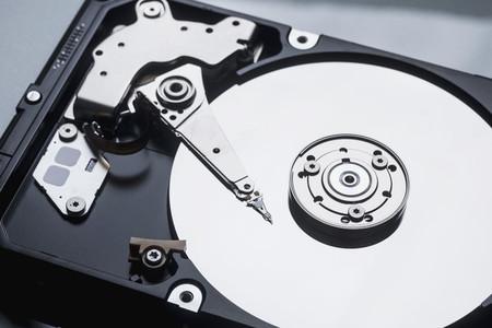 Close up open external hard disk drive 01