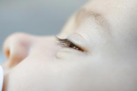 Eye of a newborn baby
