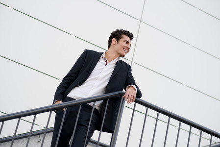 Young businessman  in an office building