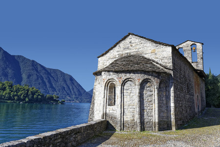 Church front of Sala Comacina