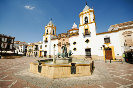 Ronda  Malaga  Andalusia  Spain Plaza Del Socorro Church