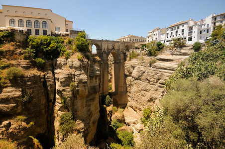 New bridge in Ronda  one of the famous white villages in Mlaga