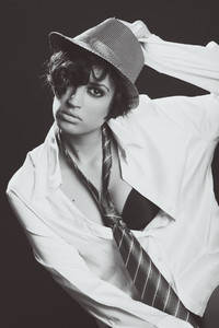 Attractive elegant sexy woman with hat   retro style
