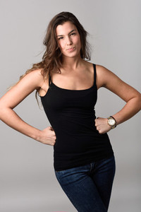 Woman  model of fashion  wearing casual clothes