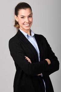Smiling businesswoman  Studio shot