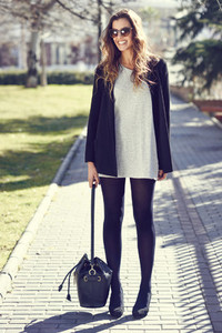 Woman wearing casual clothes in the street
