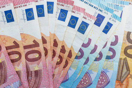 Euro currency cash bank notes money background