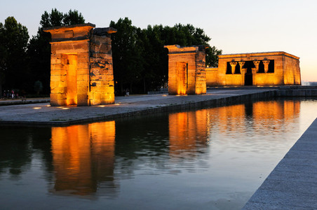 Temple of Debod  Madrid  Spain