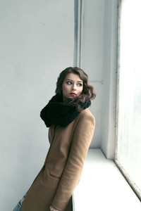 fashion female model in a coat