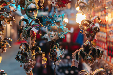 Small carnival masks  venetian souvenirs
