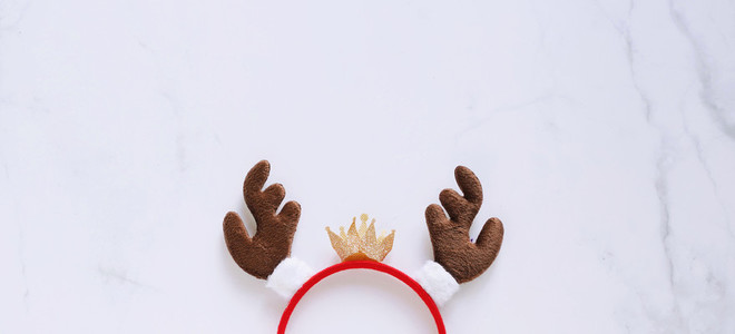 Fancy headband with reindeer antler